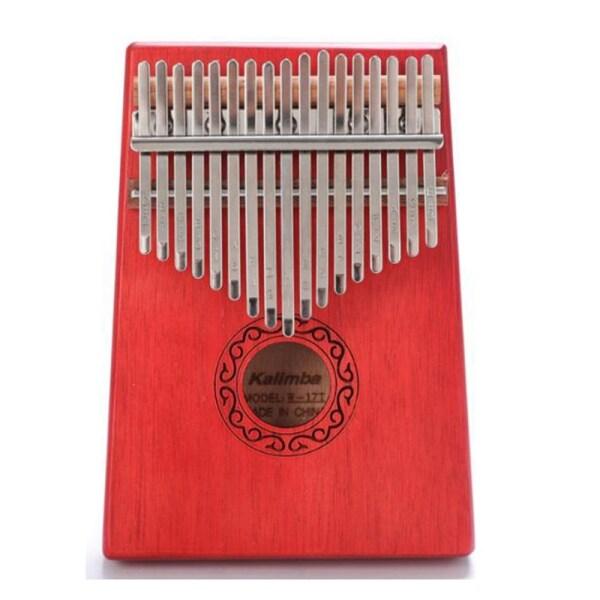 17 Key Kalimba Single Board Mahogany Thumb Piano Mbira Mini Keyboard Instrument for Music Lover Beginners Children