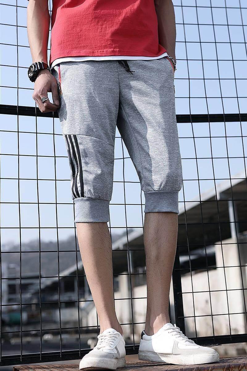 เทรนด์แฟชั่นใหม่กีฬากางเกงขายาวแบบครอปยืดกางเกงขาสั้นเกาหลี