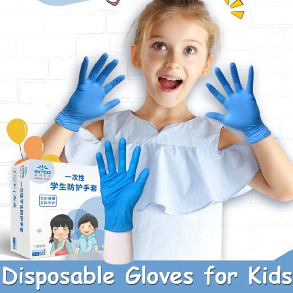 20Pcs Household Disposable Latex Glove for Boys Girls Kids Small Size Thickened Nitrile Schooling Gloves Anti Pollution