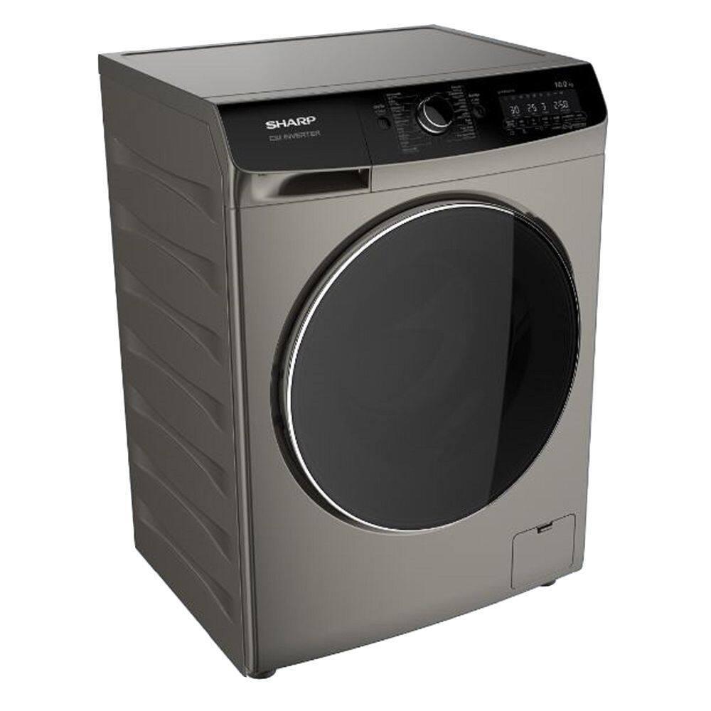 เครื่องซักผ้าฝาหน้า SHARP ES-FWX1014G 10 กก. สีเทา อุปกรณ์สำหรับทำความสะอาดเสื้อผ้า