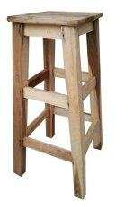 ราคา Kk Shop เก้าอี้สตูล สูง 29 นิ้ว Diy เบาะสี่เหลี่ยม ไม้เปลือยสีธรรมชาติ ที่สุด
