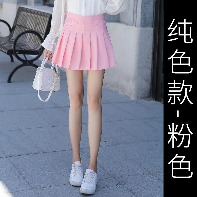 9f23b5ad3d 2019 New Style Plaid Skirt Female Spring a Word Pleated Short Skirt High- waisted INS