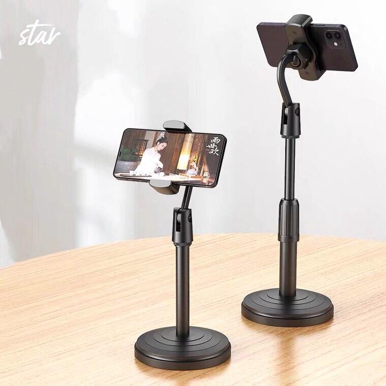 ขาตั้งโทรศัพท์มือถือ ที่ตั้งโทรศัพท์มือถือไลฟ์สด Professional Microphone Stand ปรับสูงต่ำก้มเงยได้.