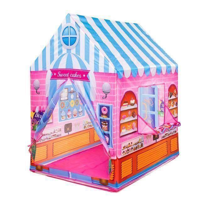 เต๊นท์ร้านขายไอศครีมสีชมพู ของเล่นเด็ก ของเล่นเด็กผู้หญิง ของขวัญปีใหม่.