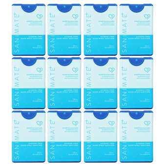 รีวิว Sanimate Hand Spray Sanitizer [4, 6, 12 ชิ้น] สเปรย์ ทำความสะอาดมือ แอลกอฮอล์ พกพาได้ ไม่ต้องล้างออก [มี 2 สูตร] alcohol/alcohol free