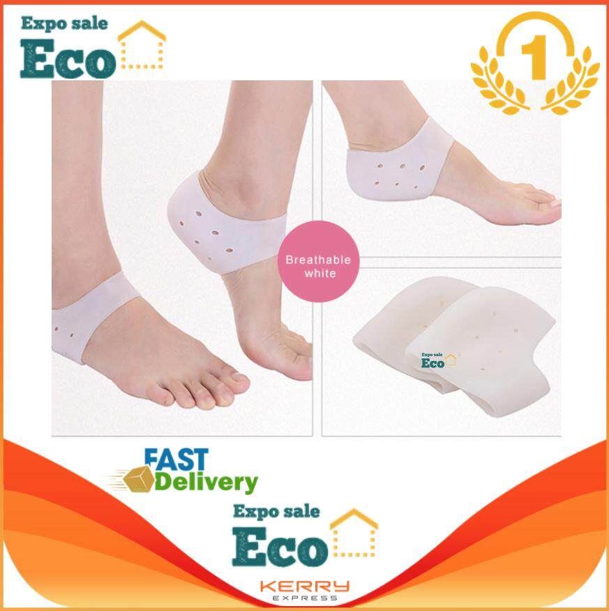 Eco Home ซิลิโคนถนอมส้นเท้าลดอาการบาดเจ็บส้นเท้า รองส้นเท้ากันช้ำ ส้นเท้าแตก Shoes Accessories(1คู่) By Eco Home Expo Sale.