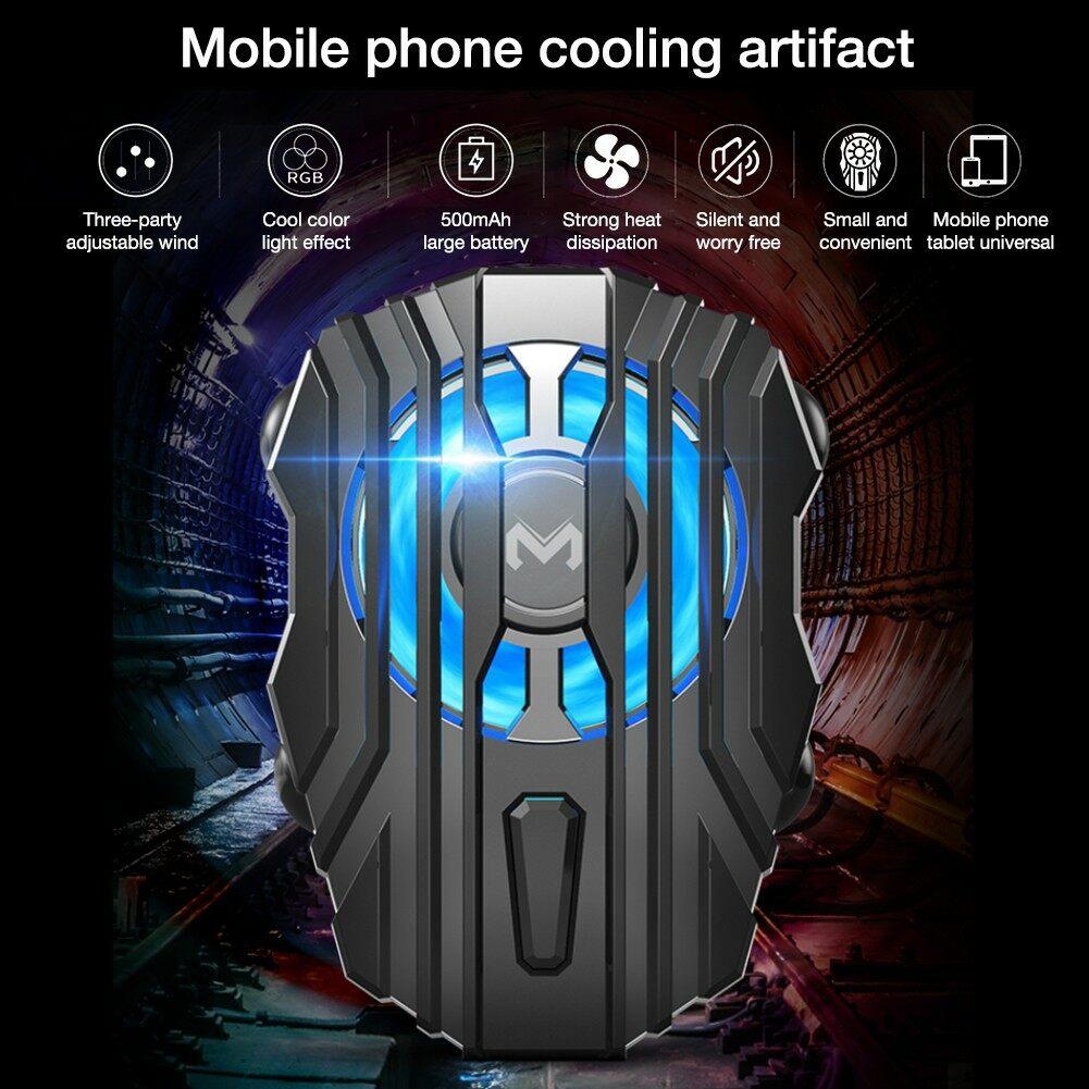 พัดลม Rgb ระบายความร้อน โทรศัพท์ มือถือ สมาร์ทโฟน แท็บเล็ต ยี่ห้อ Memo แบตเตอรี่ในตัว *พร้อมส่ง.