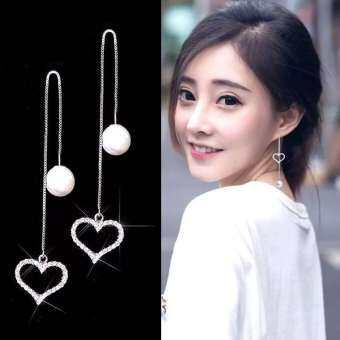 Fashion earrings ต่างหูเงินแท้925 (พร้อมกล่อง)