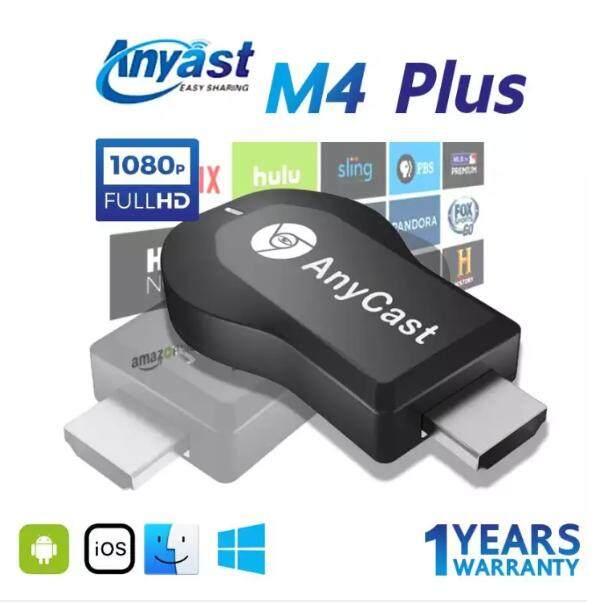 Anycast M4 Plus อุปกรณ์เชื่อมต่อมือถือขึ้นทีวี โปรเจคเตอร์ Hd 1080p รองรับ Mac Ios Android และ Window Streaming Cast Screen Airplay Dlna Miracast Hdmi.