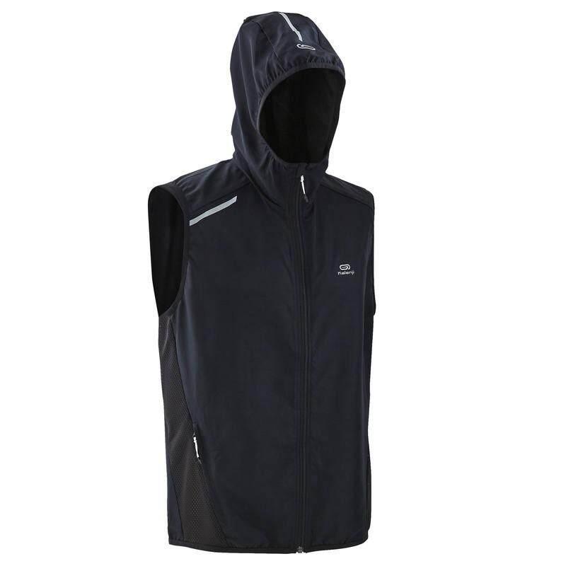 Swiftly เสื้้อแจ็คเก็ตแขนกุดมีฮู้ด ป้องกันลม (สีดำ) By Swiftly.