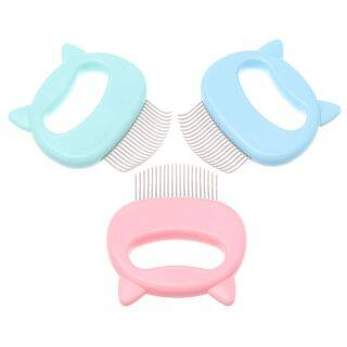 TANGXU926926929 3Pcs Massage Handle Hair Remover Massage Tool Shell Shaped Pet Grooming Comb Cat Dog Groomer Hair Removal Comb Pet Supplies thumbnail
