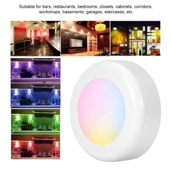 Bảng giá Happy Family Supplies Đèn LED không dây Puck Light RGB 12 màu Đèn hội trường có thể thay đổi độ sáng