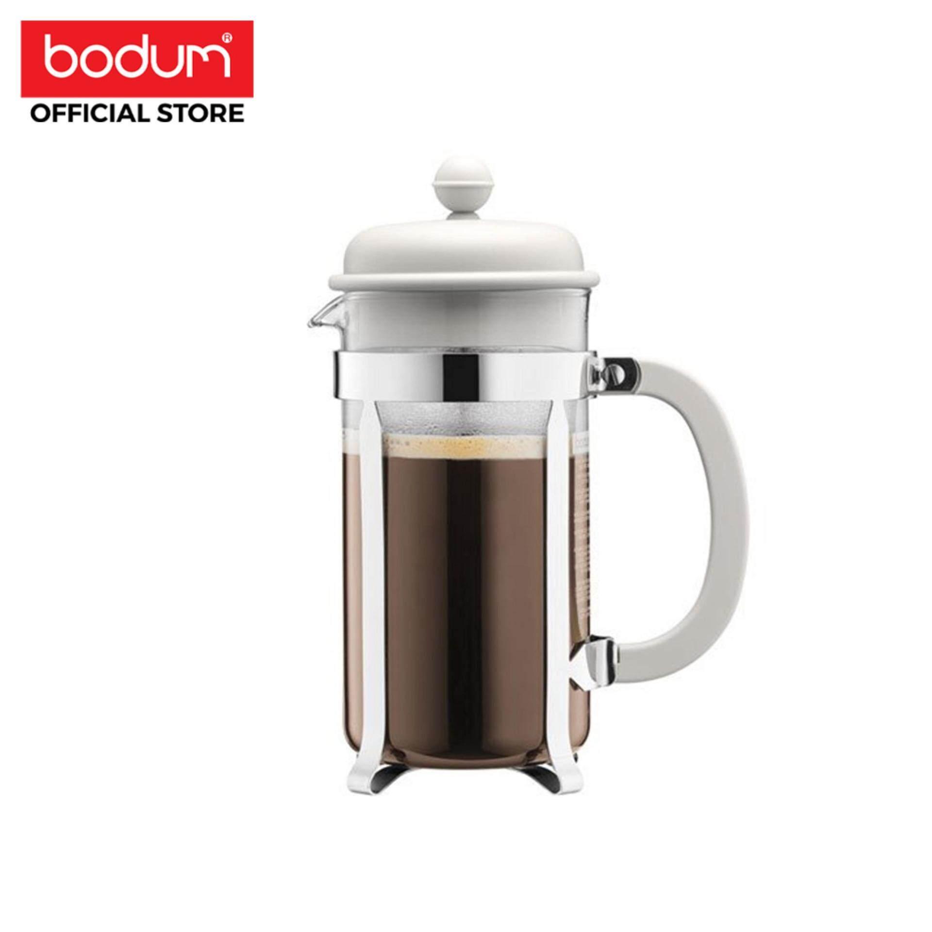 Bodum เครื่องชงกาแฟ Caffettiera  French Press - 8 Cup  34 ออนซ์ สีขาว.