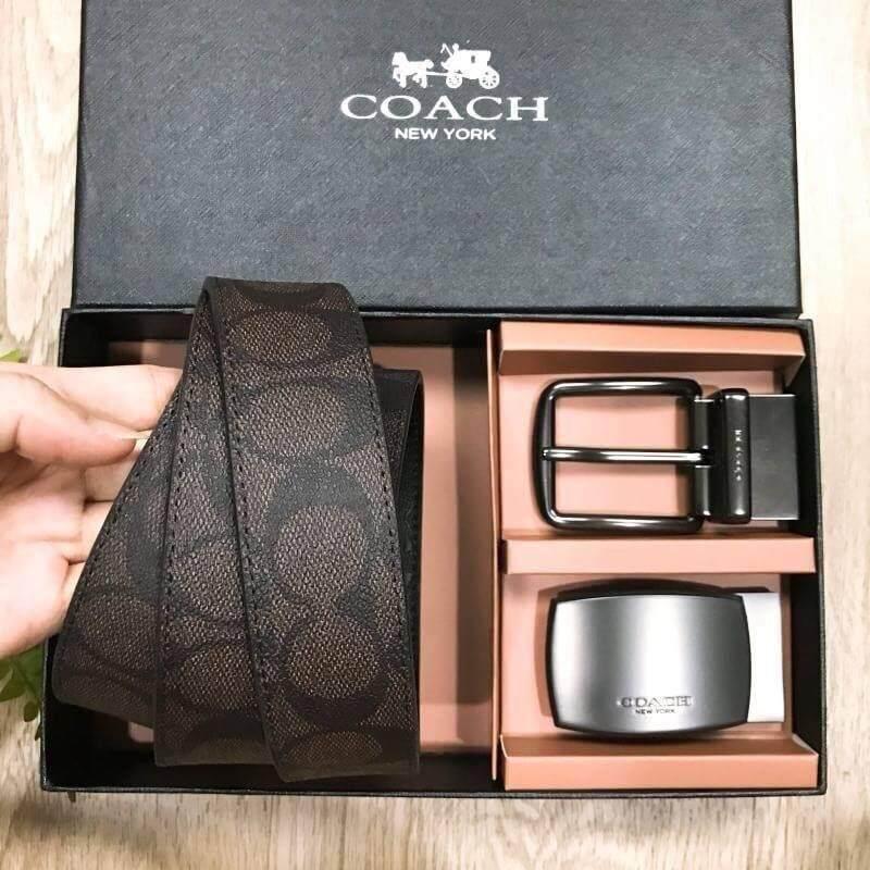 ชุดเข็มขัด Coach่ Factory Belt Value Pack Box Set 2in1 Limited Edition จาก Coach่ Factory (งานแบรนด์แท้100%).