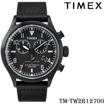 Timex TM-TW2R12700 นาฬิกาข้อมือผู้ชาย สายหนัง สีดำ