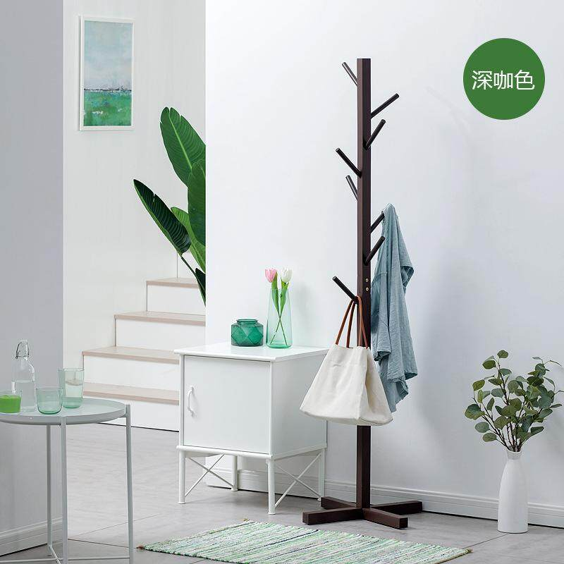 Yxz Solid Wood Simplicity Floor Clothes Tree Simple Sedurre Attrarre Fashion Clothes Rack Living Room Storage Bedroom Clothes Rack