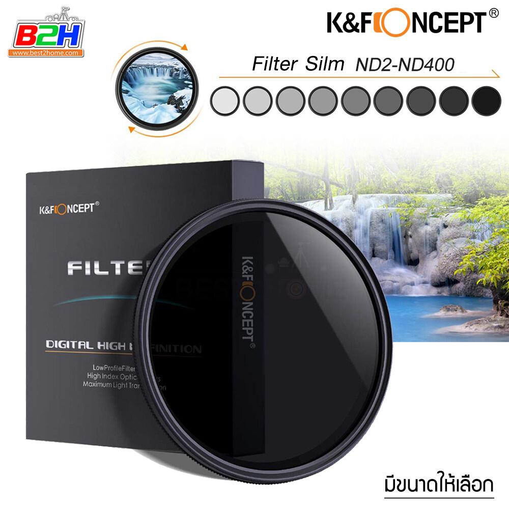 K&f Concept Nd2-400 Variable Neutral Density Nd Filter มีขนาดให้เลือก.