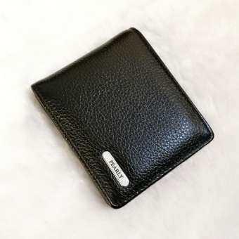 LEATHER PEARLY กระเป๋าสตางค์ ใบสั้น2พับใส่แบงค์2ใส่บัตร9มีซิปเล็ก หนังแท้อย่างดี ขนาด10.5x8.5x1.5cm รุ่น B006-1(เลือกสีได้)-