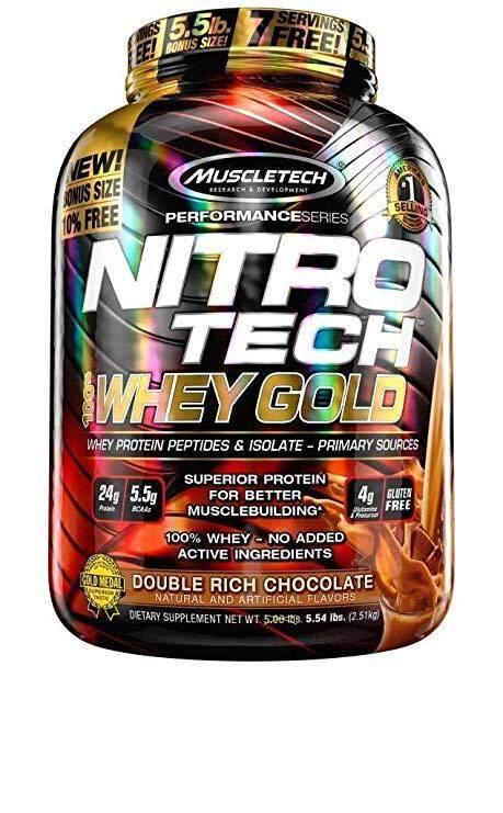 MuscleTech Nitro Tech 100% Whey Gold 5.54 lbs (2.51 kgs)