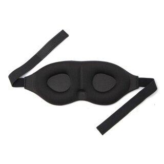 3D Memory Sponge Travel Sleep Eye Mask Padded Shade Cover Sleeping Blindfold Aid Black thumbnail