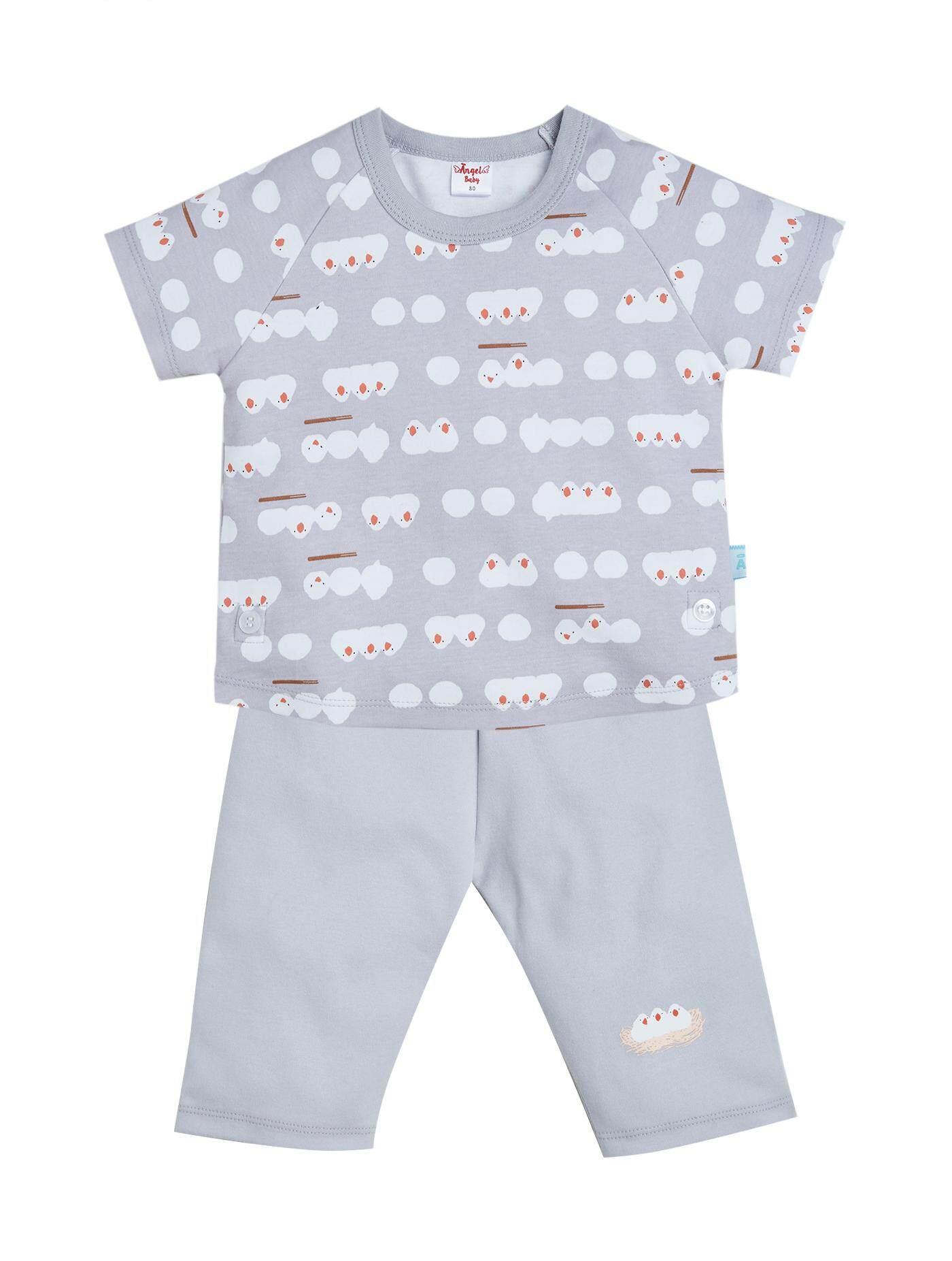 ชุดเสื้อแขนสั้น+กางเกงเด็กเล็ก สีเทา ไซส์ 95 โปรโมชั่น ราคาถูก