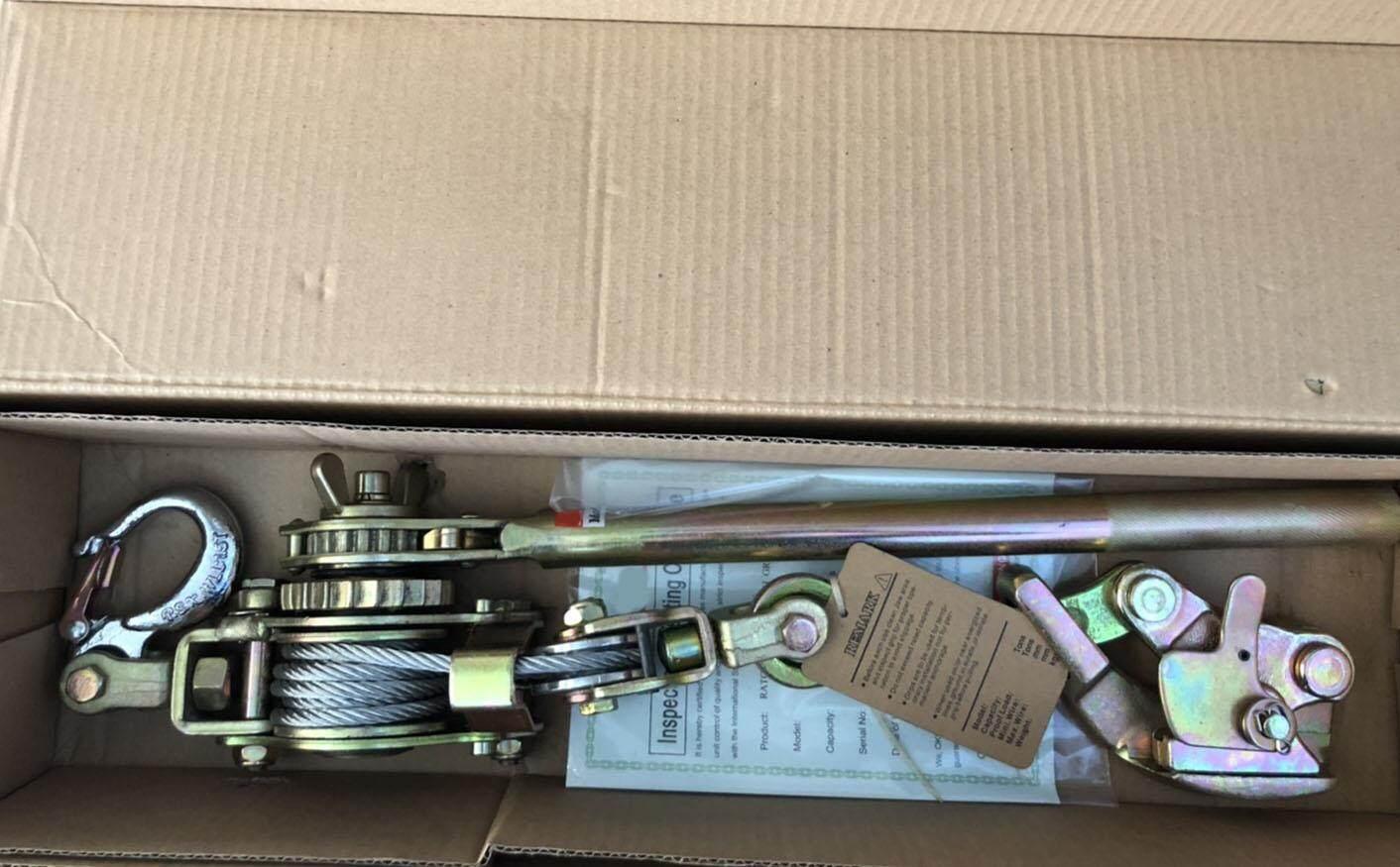 รอกสลิงดึงสายไฟ พร้อมกริ๊ปจับสายไฟ 2 ตัน 4-22 mm. Ratchet Puller XYLON/XY1506