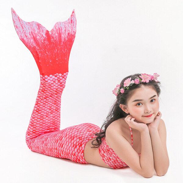 Giá bán Đồ Bơi Nàng Tiên Cá Đồ Bơi Mùa Xuân Nổi Bật Cho Trẻ Em Đuôi Cá Tách Rời Bộ Bikini Bé Gái Bộ Ba Mảnh 2021 Mới