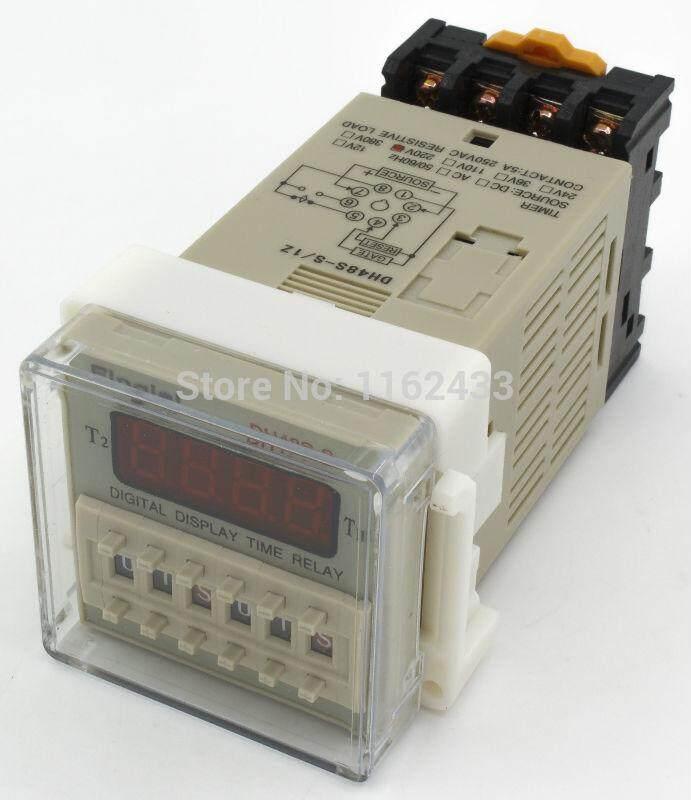 เครื่องตั้งเวลาแบบวนซ้ำ On-Off 0.1s-99h 220Vac+แป้นยึด