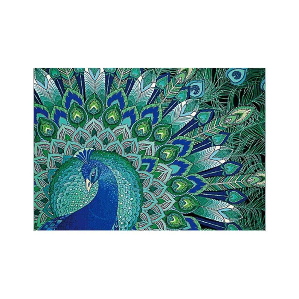 5D DIY Peacock Embroidery Rhinestone Diamond Painting Cross Stitch Home Decor