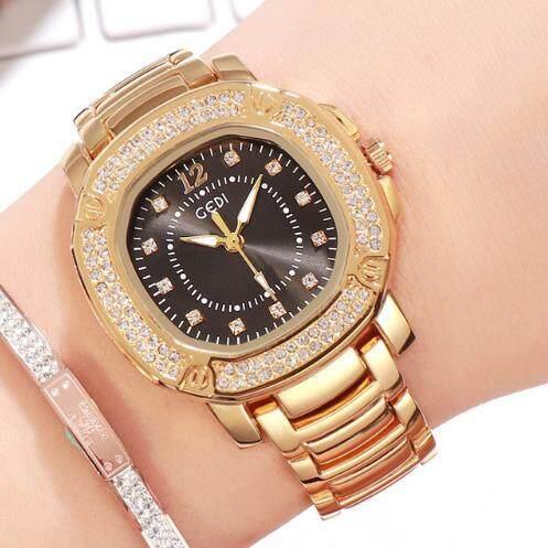 นาฬิกา Gedi รุ่น Yh-3200 สายสแตนเลส-นาฬิกาแฟชั่น พร้อมส่ง แถมฟรีกล่อง (มีเก็บเงินปลายทาง) R-027 By Riches.lzd.