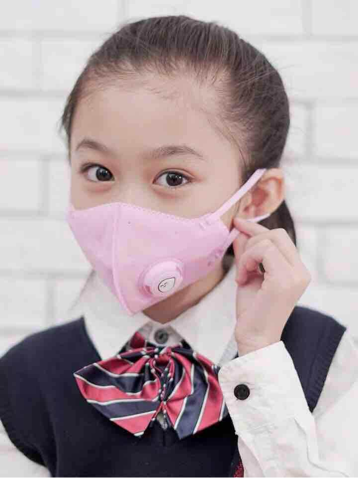 Xiaomi Mijia Airpop สำหรับเด็ก (สีชมพู) หน้ากากอนามัยมีวาล์ว ป้องกันฝุ่นละอองขนาดเล็ก Pm2.5 พร้อมส่ง By The Mask Detector.