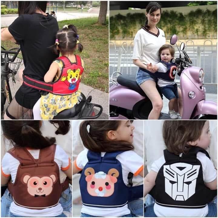 กระเป๋าสายรัดนิรภัย หรือสายรัดเด็ก กันตกรถจักรยานยนต์ (Moto Belt)