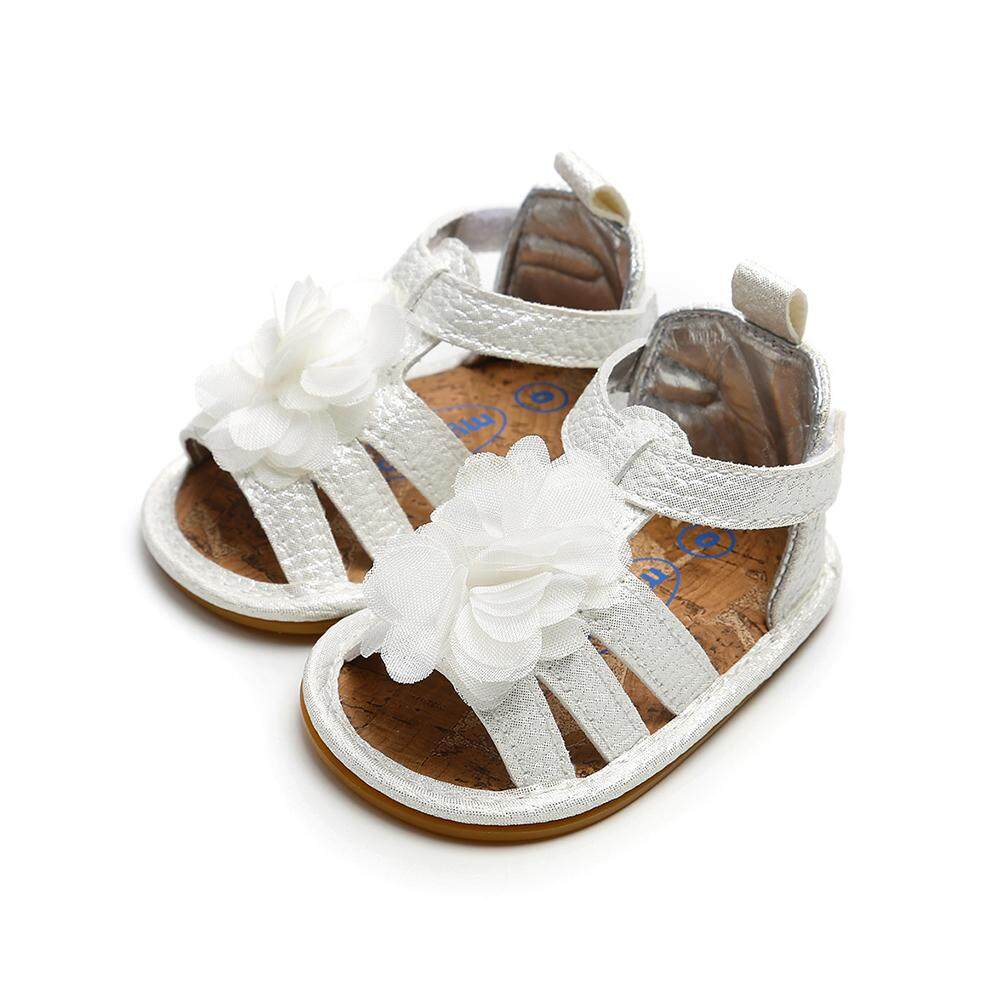 Supermall พื้นรองเท้ายางรองเท้าแตะดอกไม้ขนาดเล็กสำหรับเด็กแฟชั่นเสื้อผ้า By Super Star Mall.