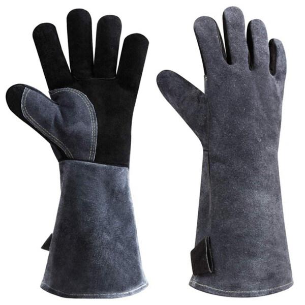 GANJING 932 ° F Làm giả Chống cháy vỉ nướng Chống nóng Găng tay BBQ Găng tay hàn Găng tay an toàn Tay áo dài