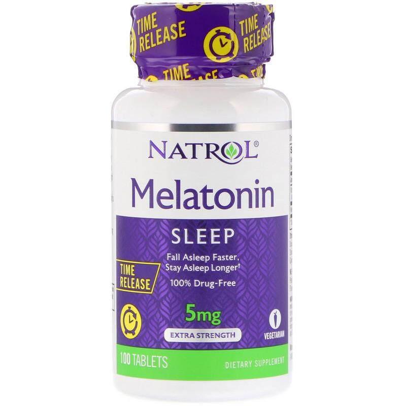 Narol Melatonin Time Release, 5 mg. 100 เม็ด