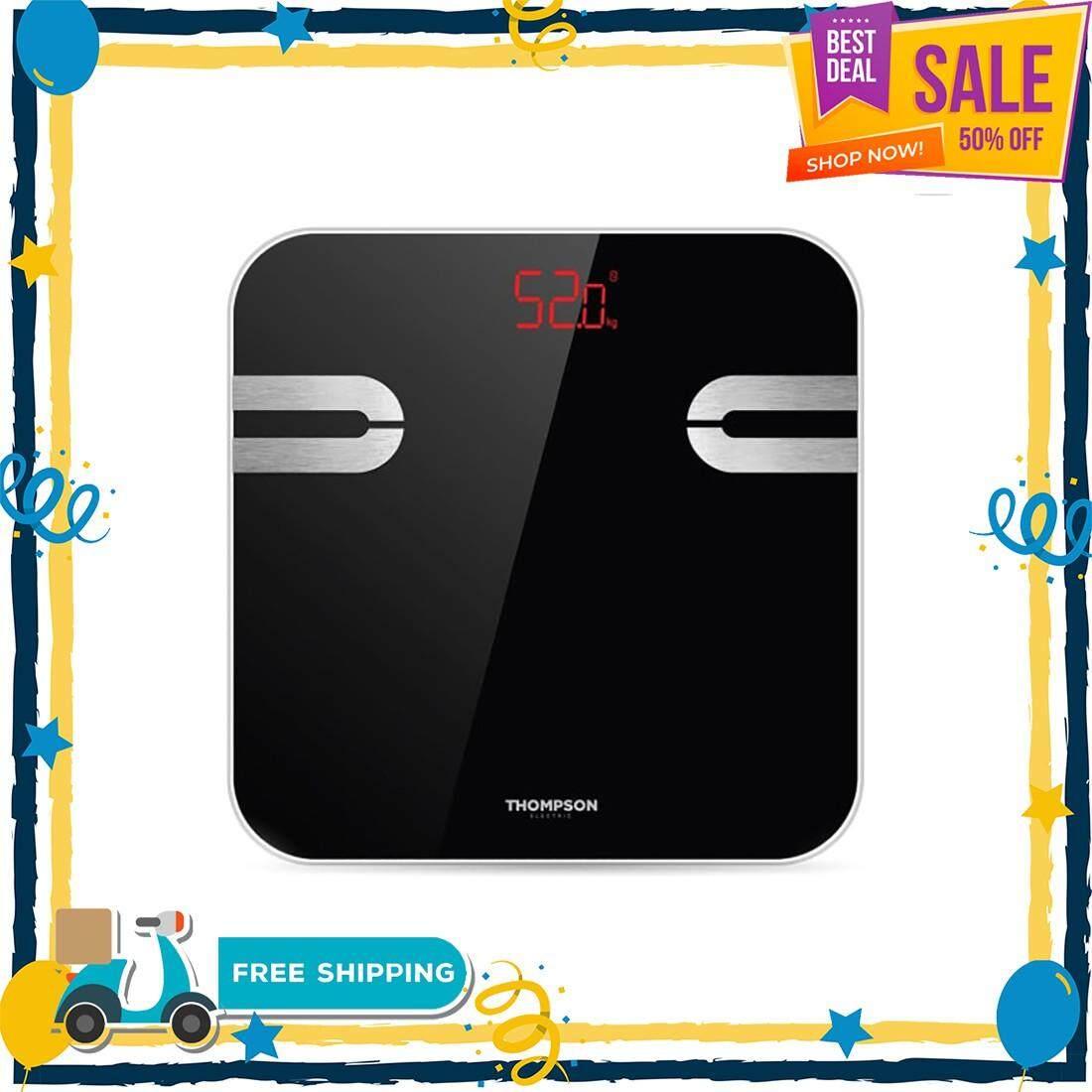ส่งฟรี!! ของแท้ 100% เครื่องชั่ง digital เครื่องชั่ง THOMPSON เครื่องชั่งน้ำหนัก วัดองค์ประกอบในร่างกาย รุ่น RBS Fit Day สีดำ เครื่องชั่ง นน ตาชั่งดิจิตอล body fat scale ตาชั่งน้ำหนัก ที่ชั่งน้ำหนัก weighing scale ตราชั่งน้ำหนัก weight scale ที่ชั่ง
