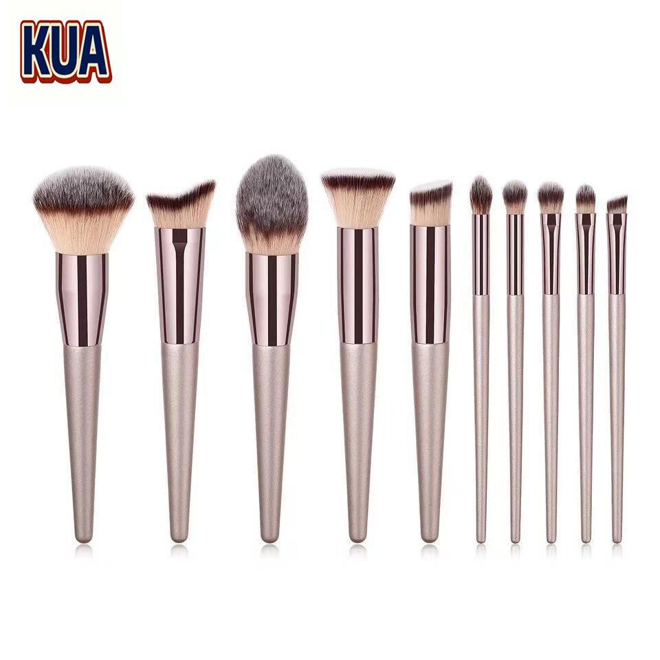 ทองคำแชมเปญ แปรงแต่งหน้า Brush Set เซต10ชิ้นแปรงปัดแก้มแปรงไฮไลท์แปลงแต่งหน้า Make Up Brush Fancy (สีสวยมาก)(makeup Brush Set).