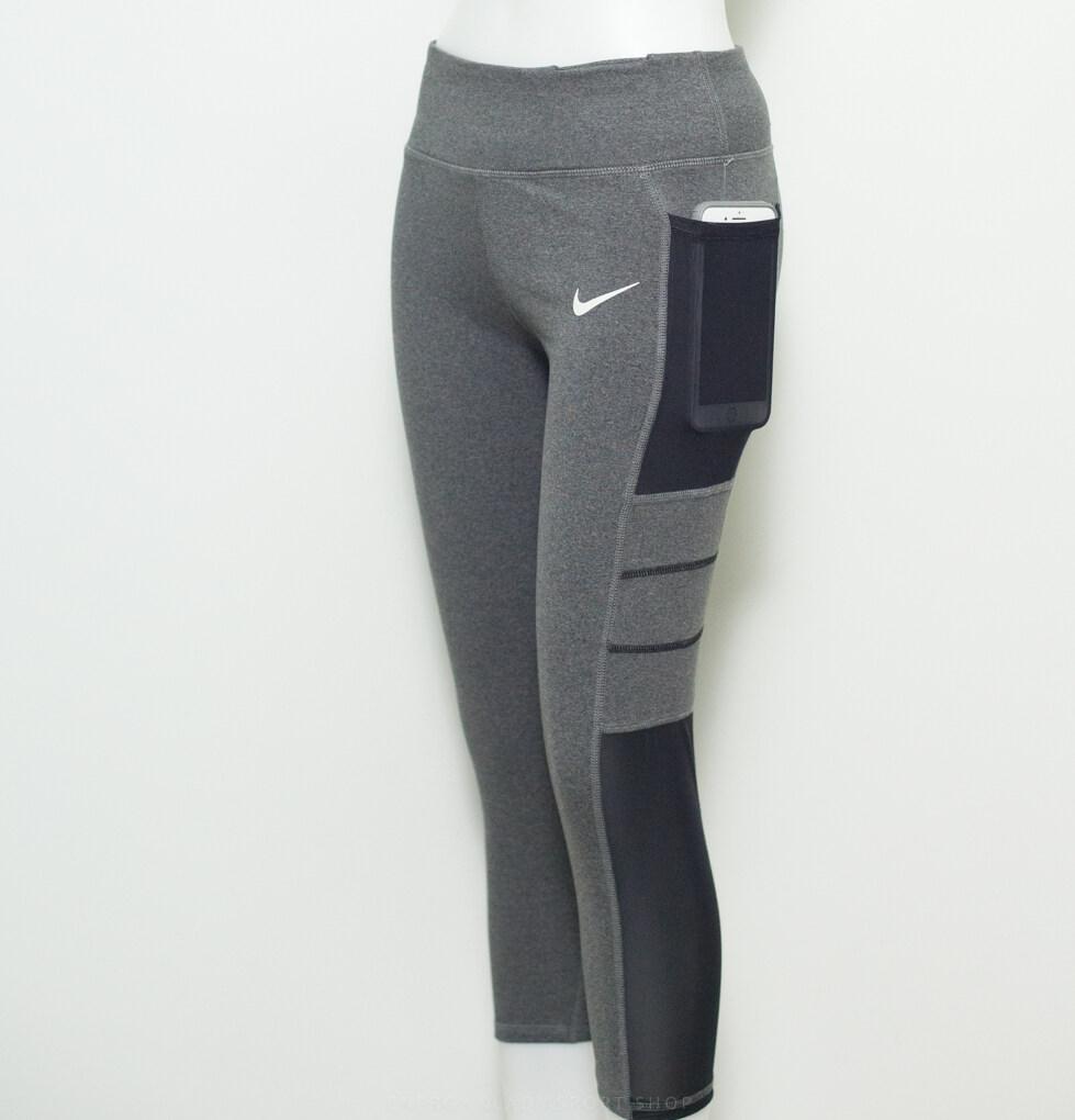 Nike New Collegtion เลกกิ้งออกกำลังกาย ผู้หญิง  ซีทรู มีกระเป๋ากางเกงใส่มือถือ (ถ่ายจากสินค้าจริง).