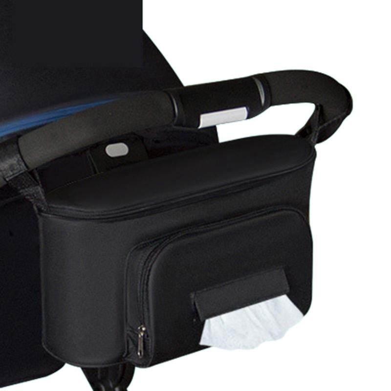 Giá bán Baby Stroller Bag Organizer Bag Soild Color Bags Mama Carriage Buggy Pram Cart Basket Hook Backpack Stroller Accessories Black