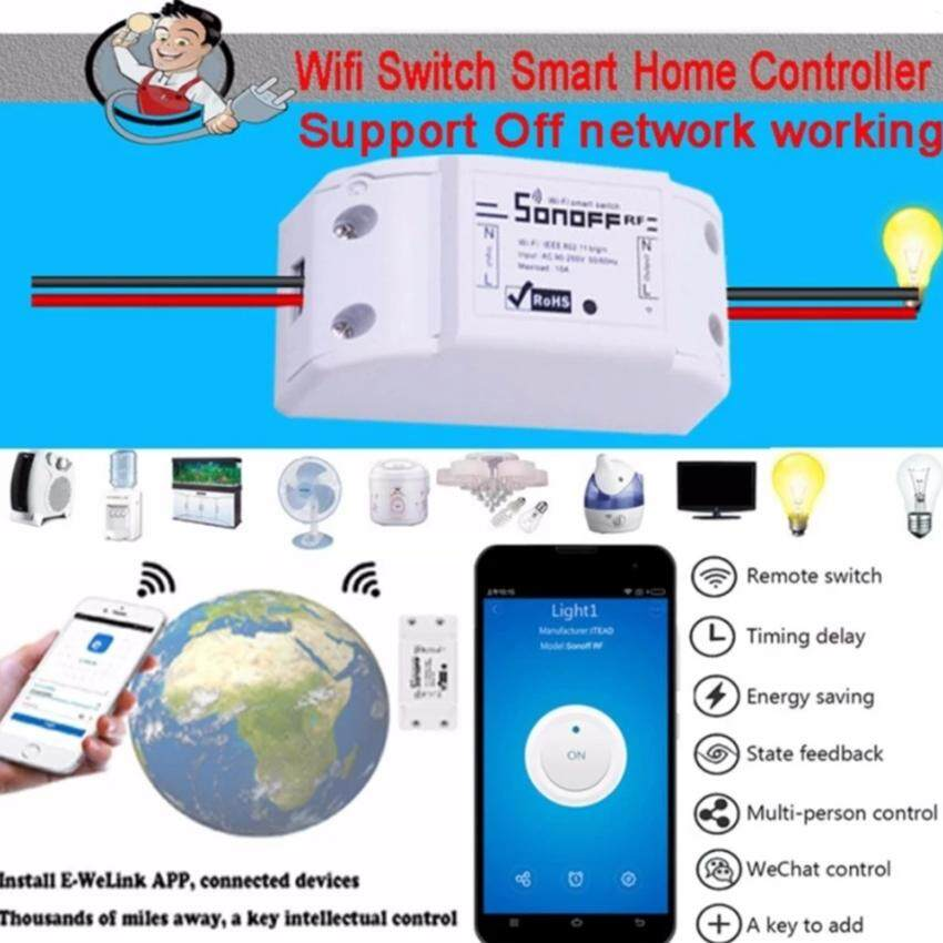Sonoff Smart Wifi Switch Diy Remote Wireless Smart Switch Domotica Wifi Light Switch - White By Foco.