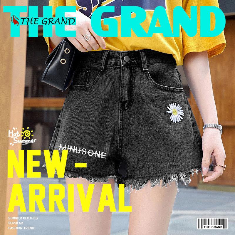 2021new ลายตัวอักษรแฟชั่น กางเกงผู้หญิง ดีไซน์สดใสแมชต์ได้ทุกสไตล์,กางเกงขาสั้นผญเป็นที่นิยม,ทางร้านแนะนำ.