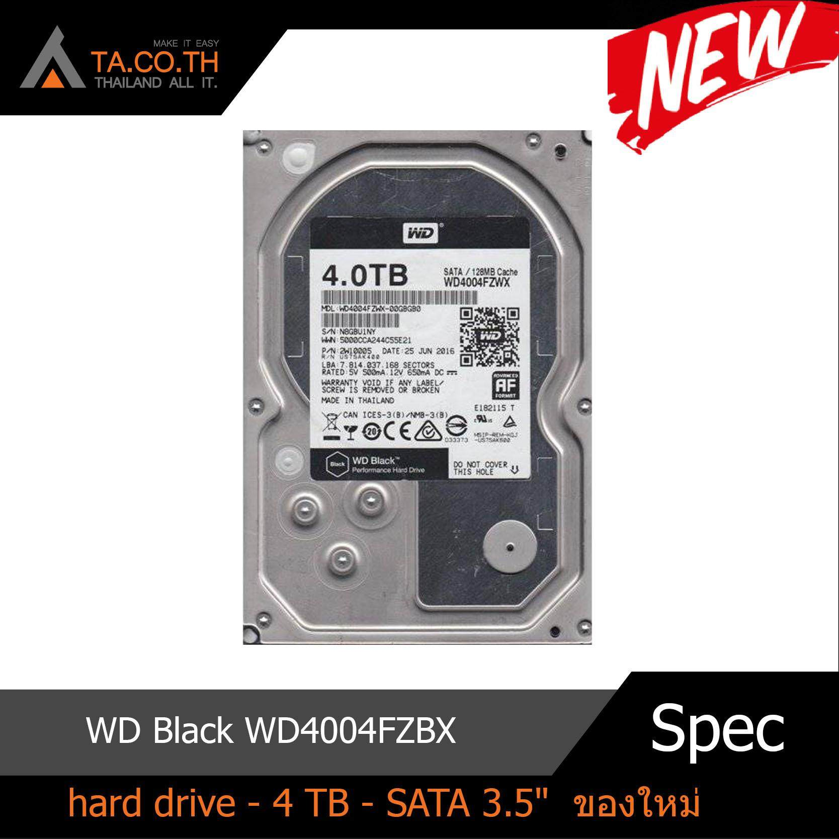 Wd Black Wd4004fzbx - Hard Drive - 4 Tb - Sata 3.5 By Thailand All It.