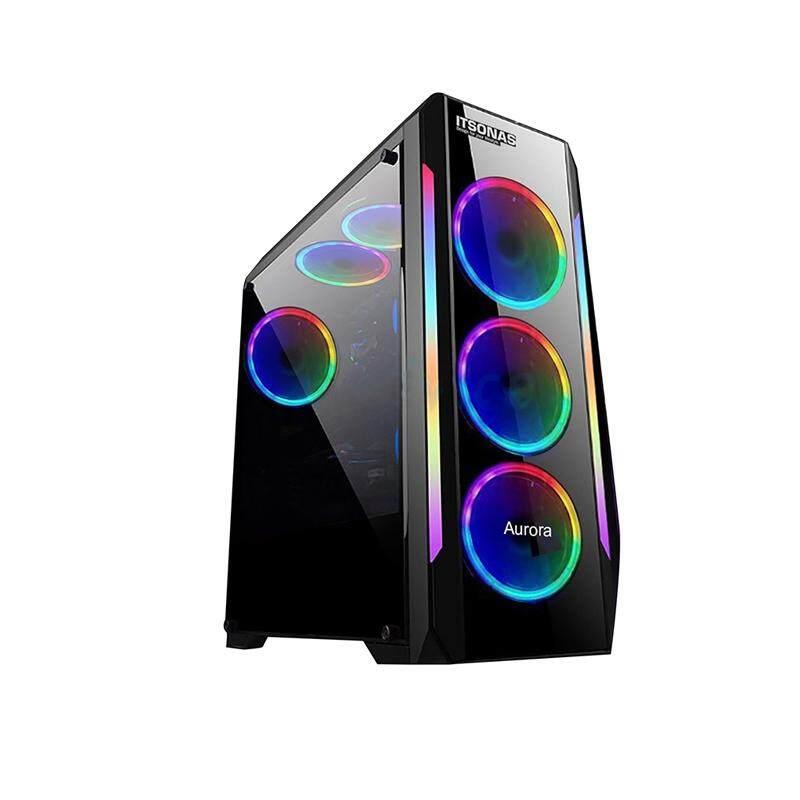 Atx Case (np) Itsonas Aurora Shine Rgb (black).