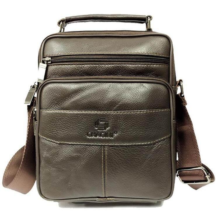 Thaileathergoods กระเป๋าสะพายข้างผู้ชายหนังแท้ กระเป๋าถือ กระเป๋าธุรกิจ กระเป๋าเอกสาร.