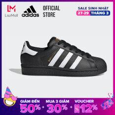 adidas ORIGINALS Giày Superstar Unisex trẻ em Màu đen EF5398