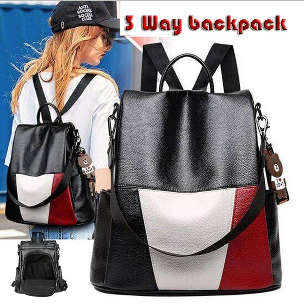 d47107a689 EsoGoal Fashion 3 Ways Women Backpack Purse Korean Style Casual Backpack PU  Leather Anti Theft Bag