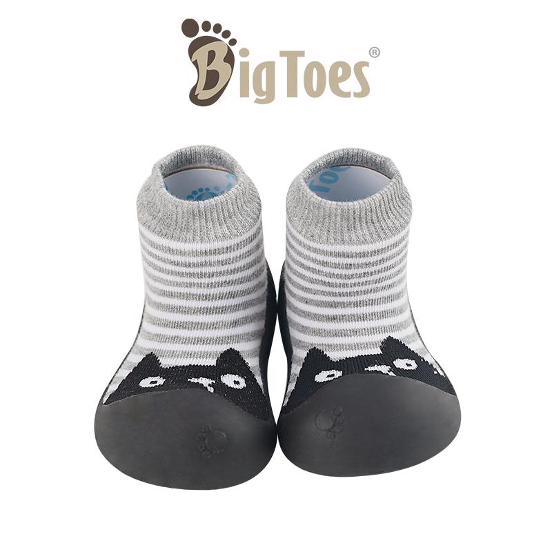 โปรโมชั่น รองเท้าเด็กหัดเดิน Bigtoes ลาย Bear black (หมีดำ) [รองเท้าเด็ก รองเท้าเด็กอ่อน เด็กหัดเดิน รองเท้าเด็กเกาหลี]