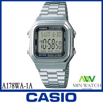 นาฬิกาผู้ชาย Casio รุ่น A-178WGA-1A สีทอง A-178WA-1A สีเงิน ของแท้100% ประกันศูนย์ CASIO 1 ปี จากร้าน MIN WATCH