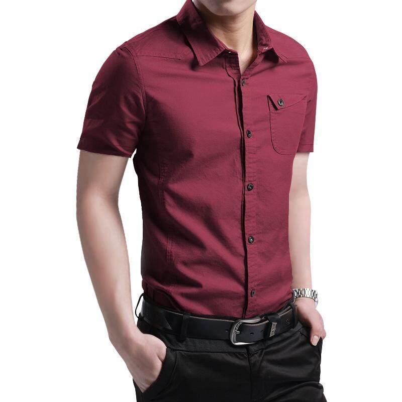 คอลเลคชั่นฤดูใบไม่ผลิเสื้อเชิ้ตชายชายเสื้อเชิ้ตแขนยาวเนื้อแนบแบบบางฝ้าย100% ผ้าลินินธุรกิจการพักผ่อนหย่อนใจสีเดียวแฟชั่นเสื้อผ้าผู้ชาย By Taobao Collection.