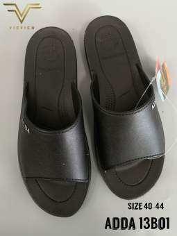 VIDVIEW !!ถูกมาก!! Adda 13B01 รองเท้าลำลอง ยาง ไซส์ 40-44 รองเท้าผู้ชาย รองเท้าสีดำ